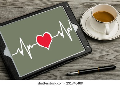 heartbeat on touch screen background