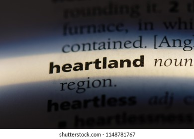 heartland word in a dictionary. heartland concept.