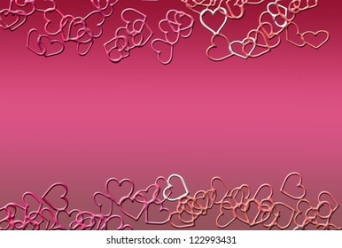 hearts as background for Valentine day
