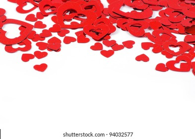 Hearts isolated on white
