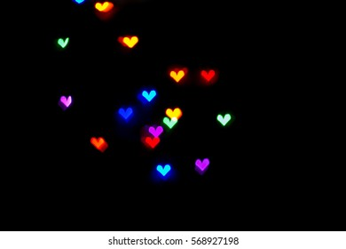 Hearts light background