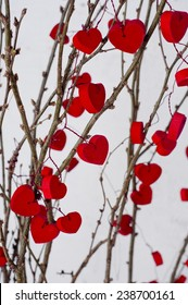 Hearts on branches