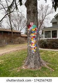 Hearts on a Neighborhood Tree to Spread Hope and Love