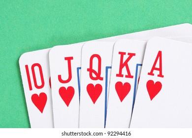Hearts poker royal flush