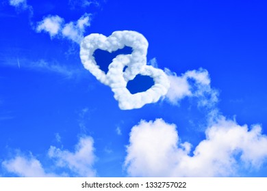 heart-shaped clouds can be used as a background image.