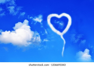 """heart-shaped clouds can be used as a background image."""""""