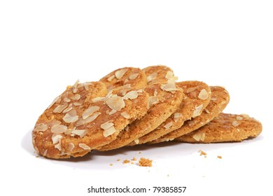 Heartshaped cookies with almonds