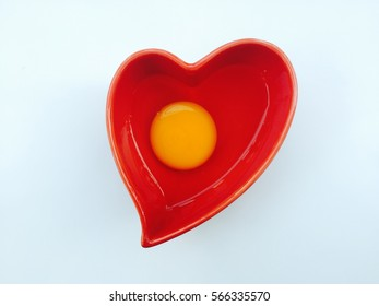 Heart-shaped egg cup