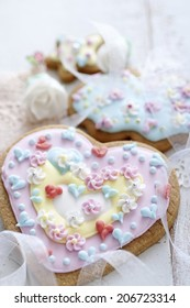 Heart-Shaped Icing Cookie