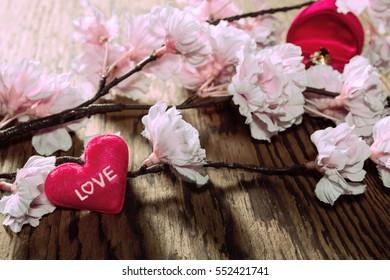 heart-shaped in jewelry box