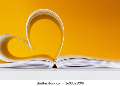 heart-shaped pages, love to read concept
