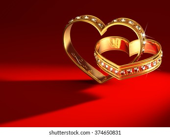 Heartshaped rings in 3d-model created from my mind