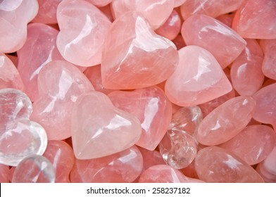 Heart-shaped rose quartz, hard but heartily
