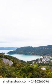 A heart-shaped seascape of Amami Oshima, Kagoshima Prefecture, Japan