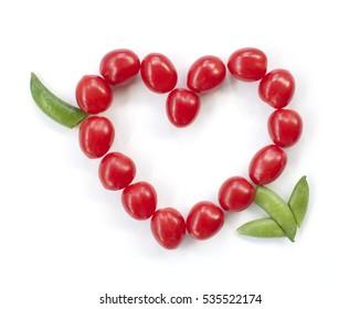 Heart-shaped tomatoes