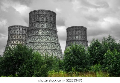 Heat electropower station, heat station, trees and ecology problems