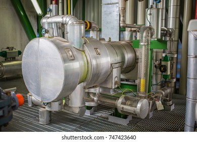 heat exchanger with hot insulation in industrial plant