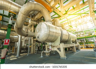 Heat exchanger in process area of petroleum and refinery pant