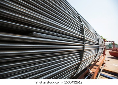 Heat exchanger tube Detail of industrial heat exchanger a shell and tube condenser material from stainless steel.