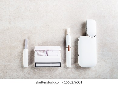 Heat not burn system for smoking, New trendy tobacco product technology iqos, modern hybrid cigarette device