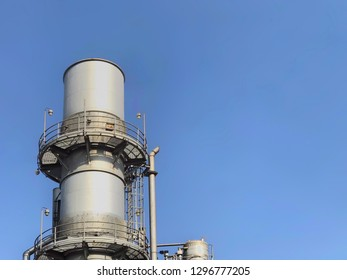 Heat recovery steam gas exhaust stack , Gas turbine exhaust stack.Boiler stack.