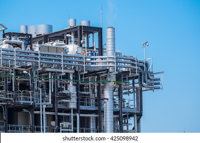Heat Recovery Steam Gas in power plant with clear sky