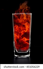 Heat resistant glass black backgrounds