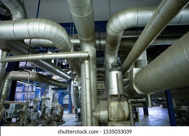 Heat resistant insulated pipes found in industrial power plants