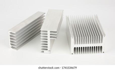 Heat sink on white background