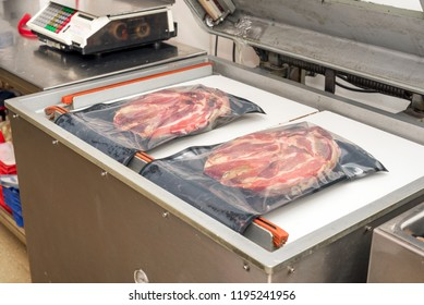 Heat Vacuum sealing machine for meat industry