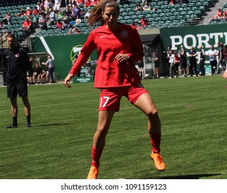Heath Tobin midfielder for the Portland Thorns at Providence Park in Portland Oregon USA May 12,2018.