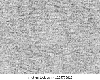 Heather gray polyester activewear fabric texture swatch. Synthetic material.