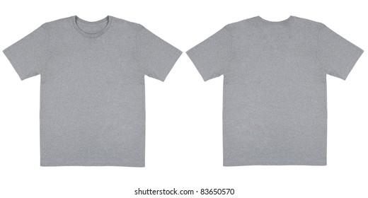 Heather Grey Knit T Shirt Off Body Flat