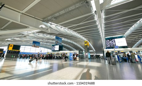 Heathrow airport, London - 15 SEP 2017 - Heathrow airport is the biggest and busiest airport in the UK, located in West London.