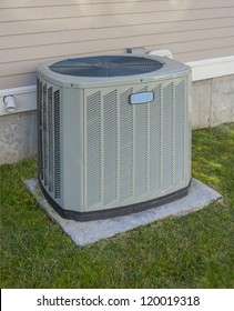 Heating and AC unit used in a residential home