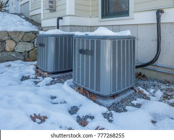 Heating and air conditioning units used to heat and cool a house