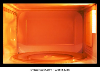 heating energy inside microwave oven.