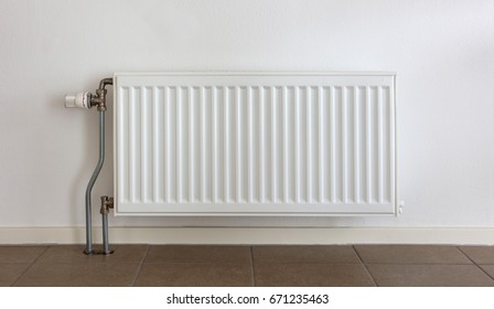 Heating radiator in a dutch home, selective focus