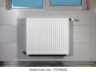 heating radiator under window in the room