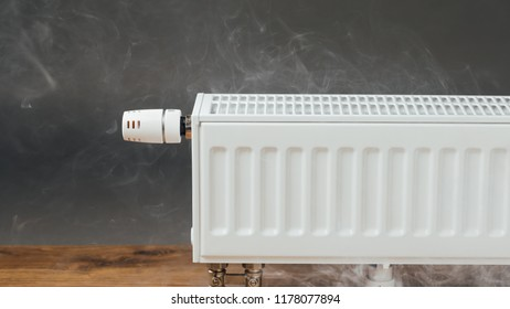 heating radiator with warm steam