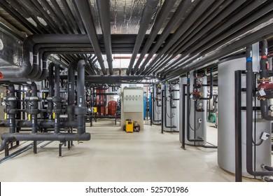 Heizung des Gebäudes. Effiziente Wasserbehandlung