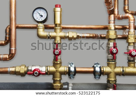Heating systems cooper pipes