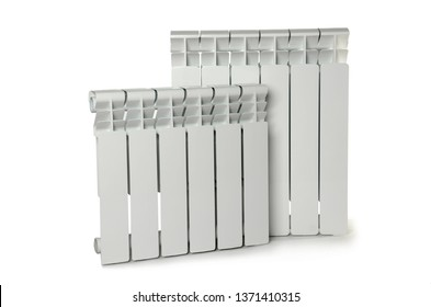 Heating white radiator isolated on white background