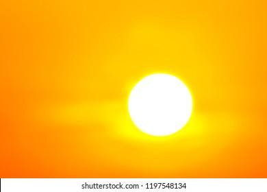 Heatwave hot sun. makes heat stroke, pm2.5