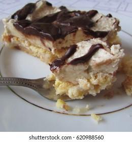 heaven im mouth or niebo w g?bie, famous polish, torte cake, - Shutterstock ID 620988560
