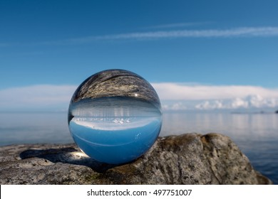 Heaven reflected inside the crystal ball