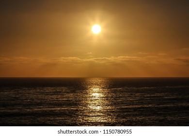 Heavenly Golden Sunset