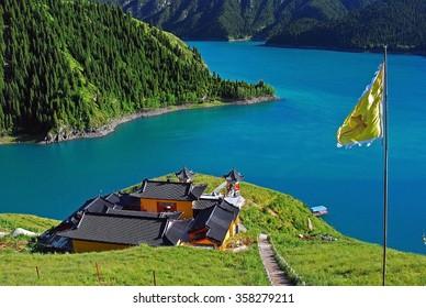 Heavenly lake, Xinjiang Tianshan, China