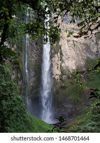 Heavenly landscape of the Gocta waterfall, unparalleled beauty totally disconnected from civilization.