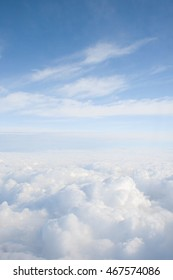 heavenly view high above the clouds